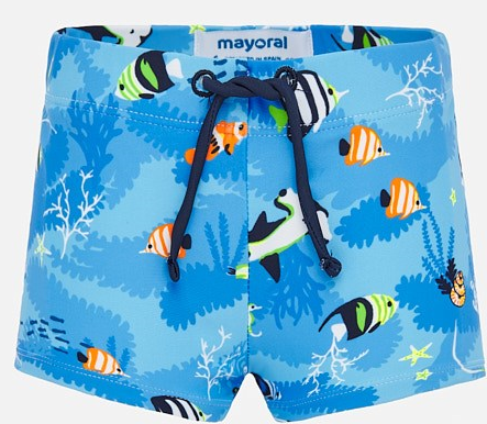 Fish Print Swim Short      MAYORAL