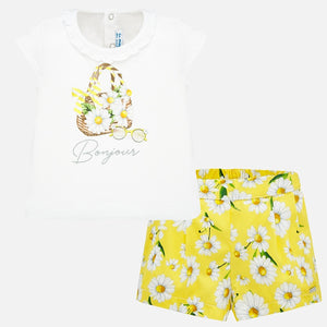 2 Piece Daisy Top & Short Sets  MAYORAL