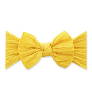 Classic Knot Headband in Canary Yellow BABY BLING