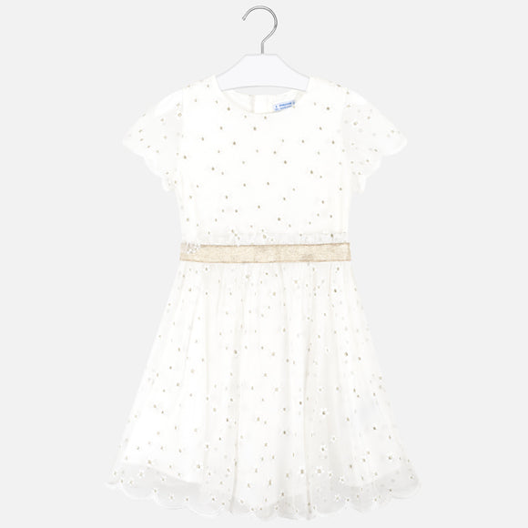 Embroidered Flower Dress MAYORAL