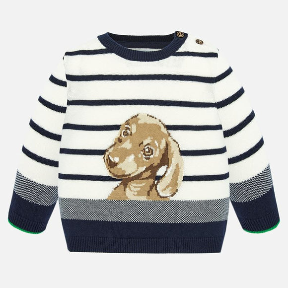 Knit Stripe Dog Sweater   MAYORAL