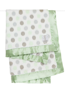 Luxe Dot Blanket Celadon          LITTLE GIRAFFE