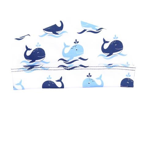 Whales Printed Hat in Blue MAGNOLIA BABY