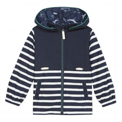 Stripe Hooded Jacket  JEAN BOURGET