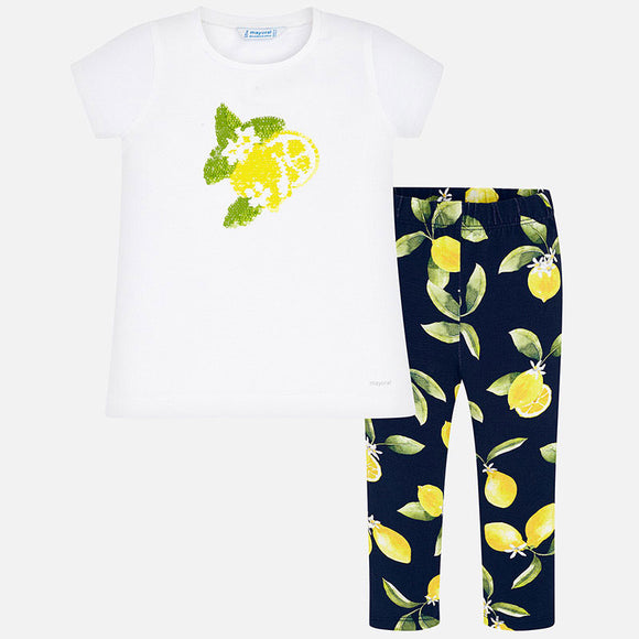 2 Piece Lemon Top & Leggings Set  MAYORAL