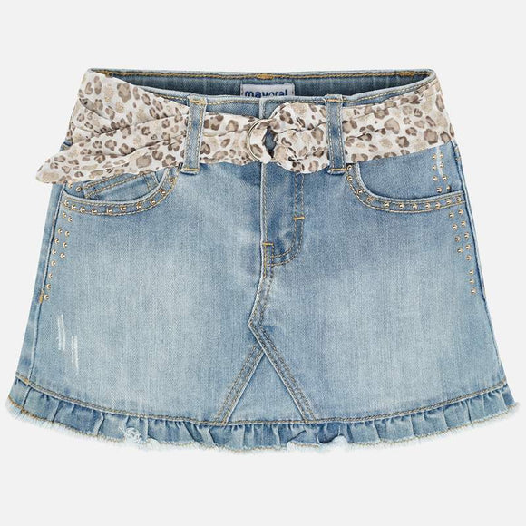 Belted Denim Skirt  MAYORAL