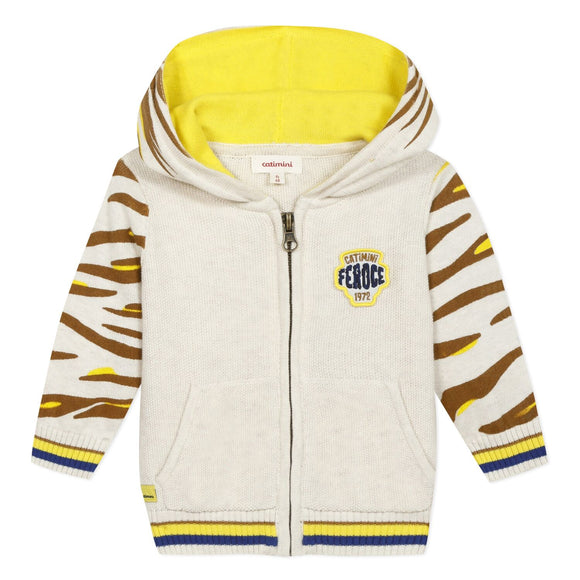 Lion Hooded Zip Up Jacket CATIMINI
