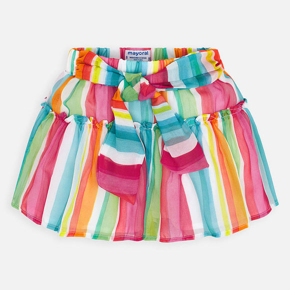 Rainbow Belted Skort  MAYORAL