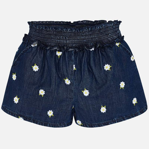 Embroidered Daisy Shorts  MAYORAL