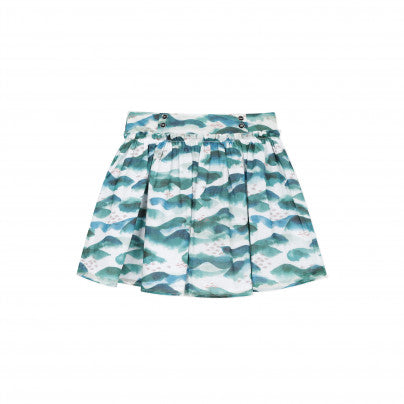 Print Pleated Skirt   JEAN BOURGET