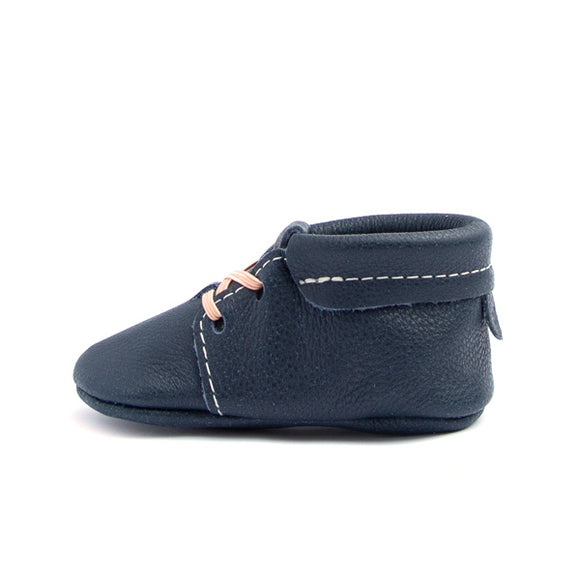 Navy Blue Oxford Moccasin FRESHLY PICKED