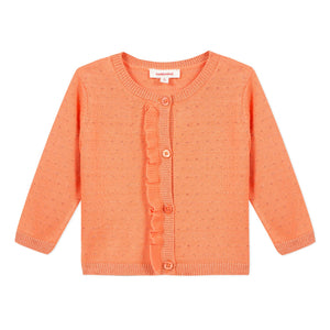 Dot Knit Ruffle Cardigan  CATIMINI