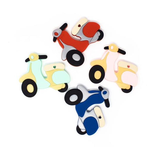 Scooter Silicone Attachable Teether THREE HEARTS