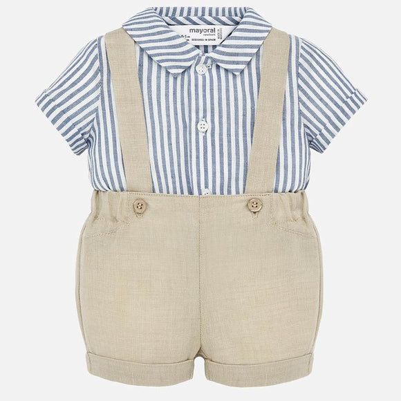 Stripe Top and Shortall Set  MAYORAL