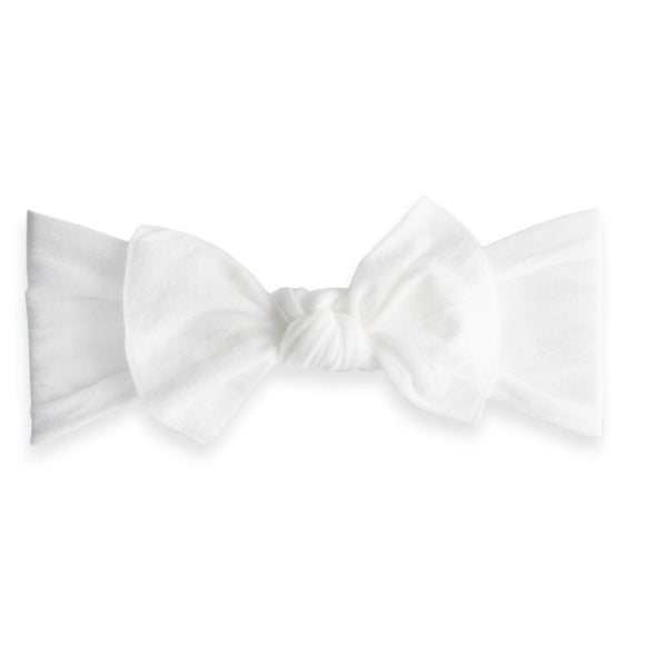 Classic Knot Headband in White BABY BLING