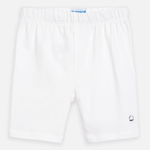 Basic Bike Shorts in White MAYORAL