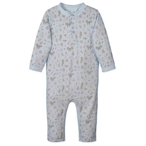 Foxes Button Romper FEATHER BABY