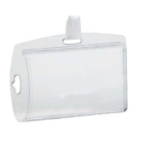 Clear Sleeve ID Badge Holder with clip