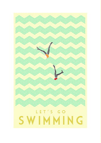 Prints by Marta - Vintage Swimming