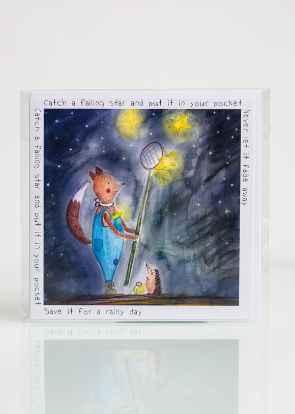 Catch a Falling Star - Greeting Card