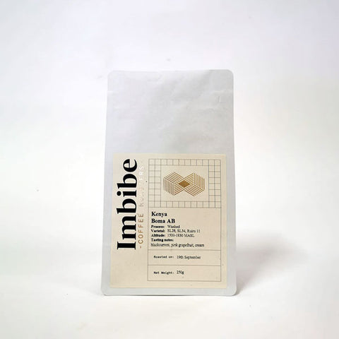 Imbibe Coffee Roasters - Kenya AB Boma - 250g Wholebean Coffee