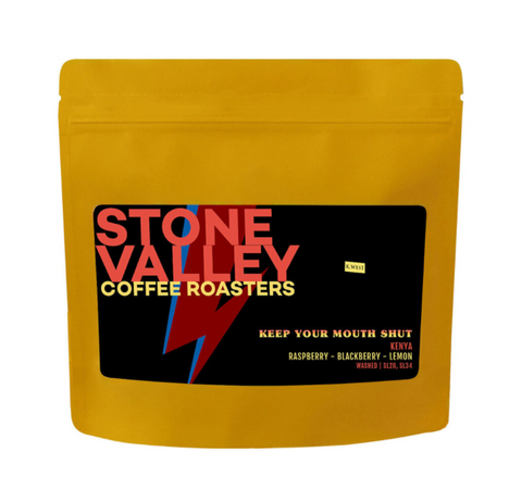 Stone Valley 250g Whole Beans - Keep Your Mouth Shut
