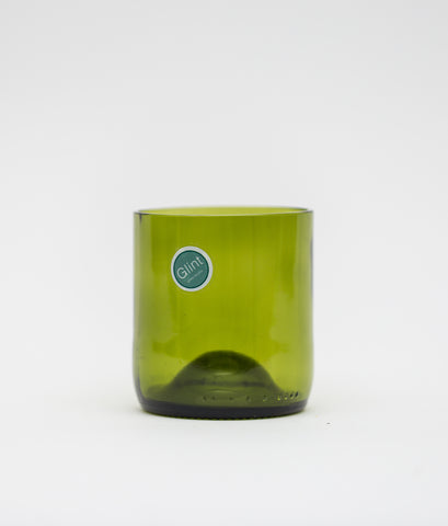 Tall Green Glass Beaker