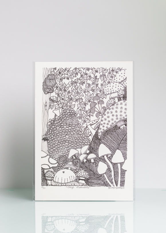 Magic Mushrooms - Ltd Ed A4 Print