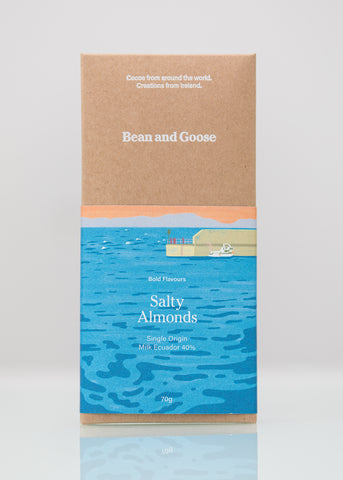 Salty Almonds Chocolate Bar Milk 40% Ecuador