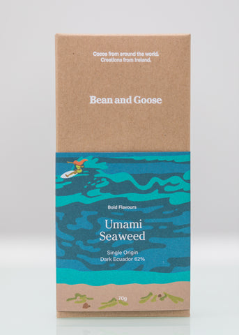 Umami Seaweed Chocolate Bar Dark 62% Ecuador (70g Bar)