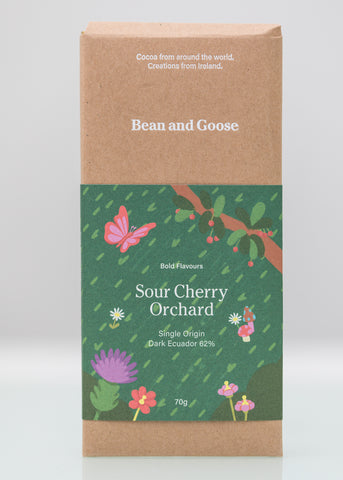 Sour Cherry Orchard Chocolate Bar Dark 62% Ecuador (70g Bar)