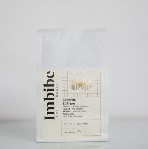 Imbibe Coffee Roasters - Colombia El Placer - 250g Wholebean Coffee