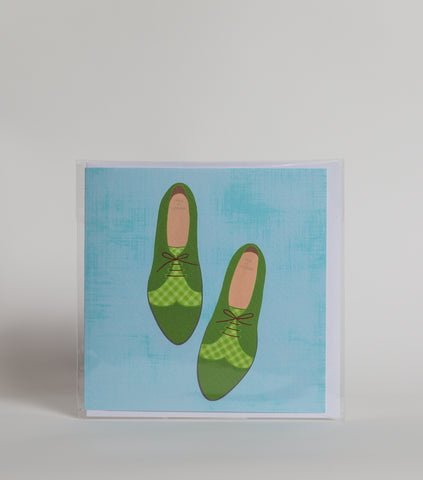 Brogá (Green shoes) - Greeting Card