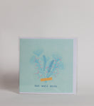 Get Well Soon (Light blue)  - Greeting Card