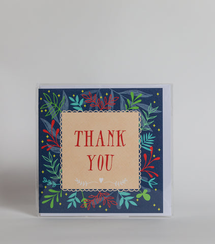 Thank You (Flowers) - Greeting Card