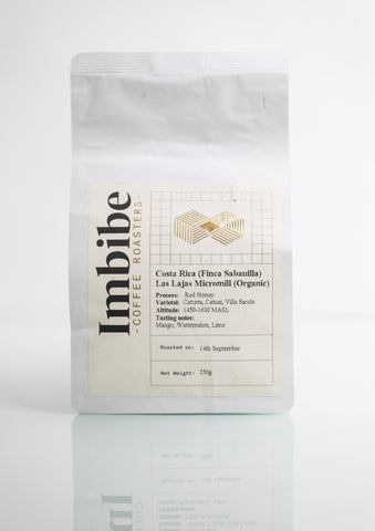 Imbibe Coffee Roasters - Costa Rica (Finca Sabanilla) - 250g Wholebean Coffee