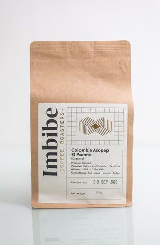 Imbibe Coffee Roasters - El Puente - 250g Wholebean Coffee