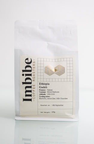 Imbibe Coffee Roasters - Ethiopia Gadeb - 250g Wholebean Coffee