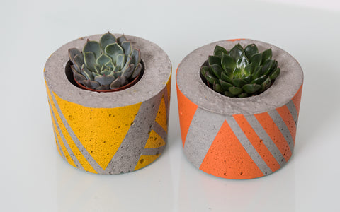 Ail & El Small Concrete Planter