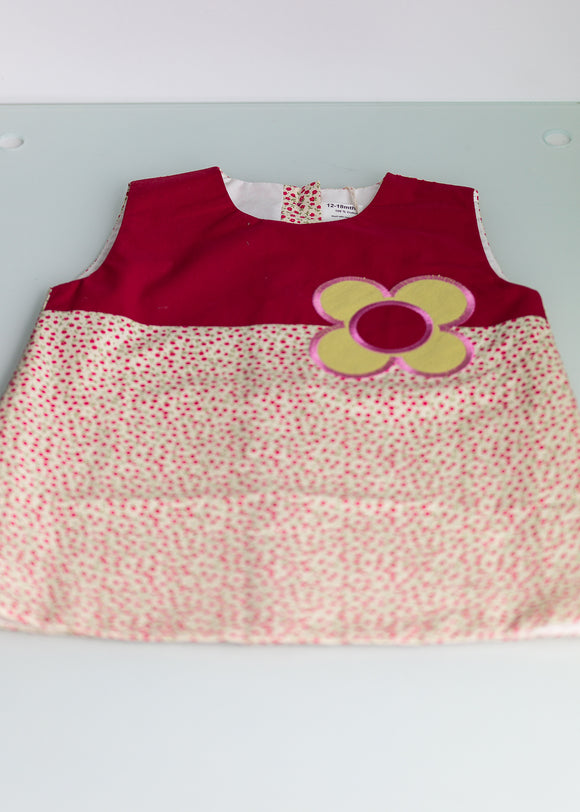 Big Spot Pinafore Dress (red)