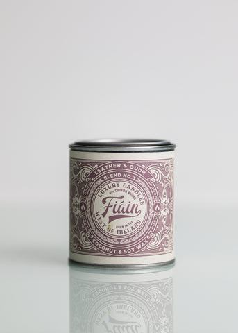Large Fiain Candle - Leather & Oudh (40 hour burn)