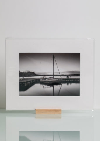 Boat at Oughterard Pier - Mounted Print