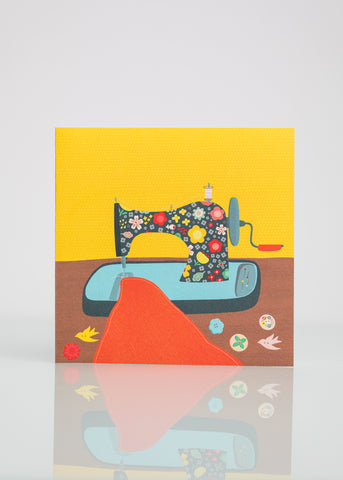 Sewing Machine - Greeting Card