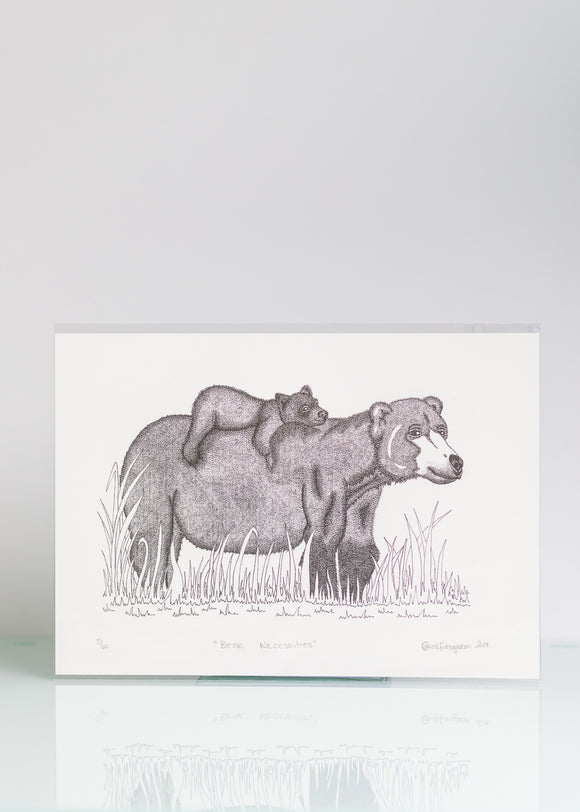 Bear Neccessities - Ltd Ed A4 Print