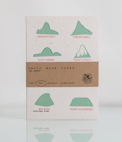 Mountain Range - A5 Badly Made Books Notebook