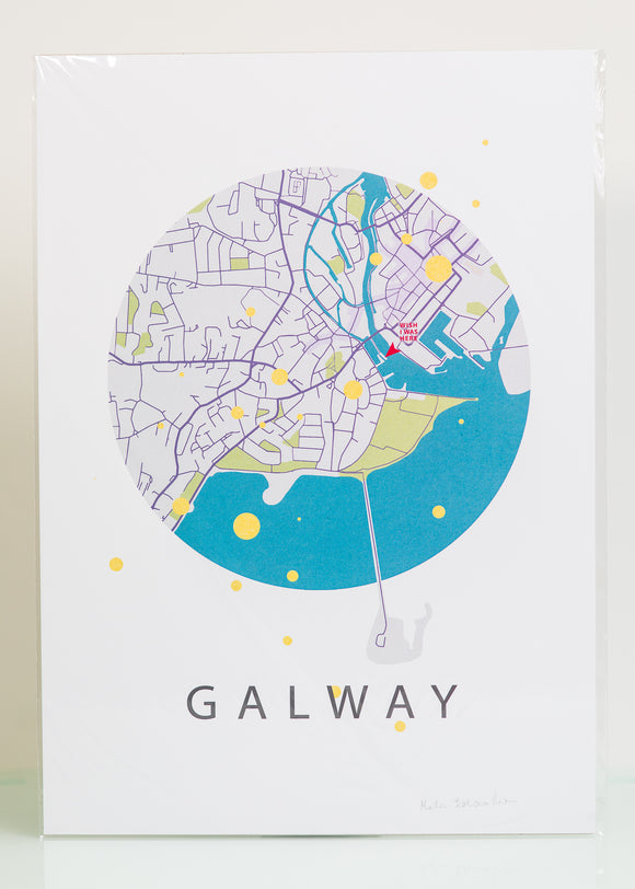 Prints by Marta - Galway Map