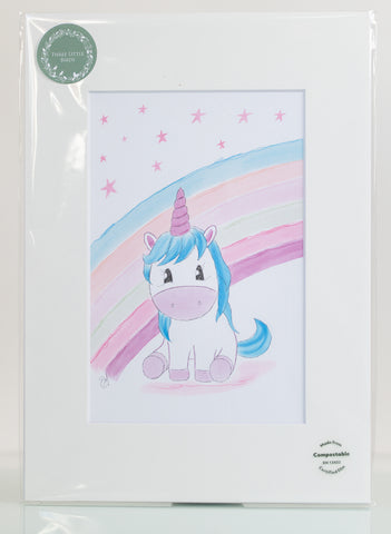 Unicorn Print by Three Little Birds