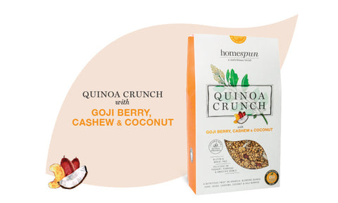 Quinoa Crunch with Goji Berry, Cashew & Coconut