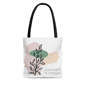 Challenged & Changed Tote Bag