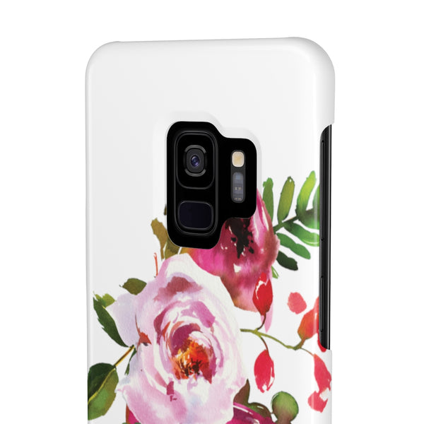 Bright Pink Floral Case Mate Slim Phone Cases